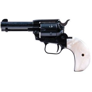 "Heritage Manufacturing Rough Rider Revolver Single Action Army 22LR and 22WMR 3.75"" Barrel Blued 6 Round Bird's Head Mother of Pearl Grips RR22MB3BHPRL"