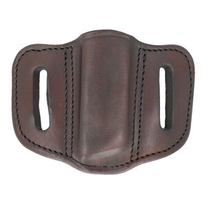 1791 Gunleather Double Stacked Polymer Magazine Single Magazine Pouch 1.2 OWB Ambidextrous Leather Signature Brown