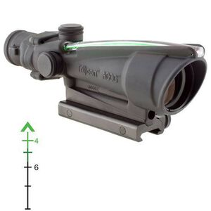 Trijicon ACOG 3.5x35 Scope Illuminated Green Chevron BAC .223 Ballistic Reticle Black TA11F-G