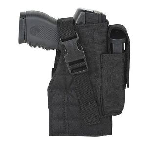 Voodoo Tactical MOLLE Holster with Attached Magazine Pouch Right Hand Black 25-002901001