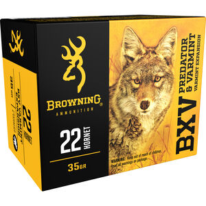 Browning BXV .22 Hornet Ammunition 200 Rounds BXV 35 Grains B192300221