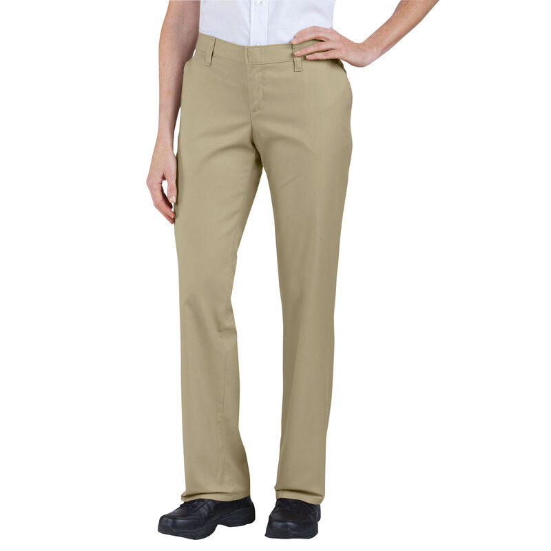 Dickies Women's Relaxed Straight Flat Front Pant 14R Sand