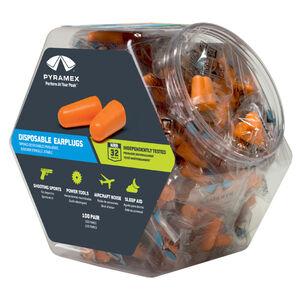 Pyramex Disposable Un-corded Earplugs 31dB Noise Reduction Rating Polyurethane Ear Plugs Orange 100 Pairs