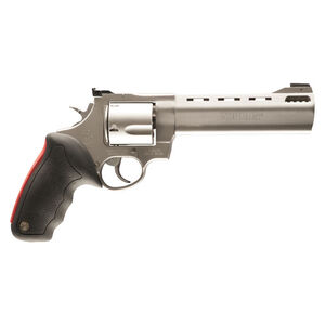 """Taurus Raging Bull 454 Double Action Revolver .454 Casull 6.5"""" Ported Barrel 5 Rounds Fixed Front Sight/Adjustable Rear Sight Rubber Grip Matte Stainless Steel Finish"""