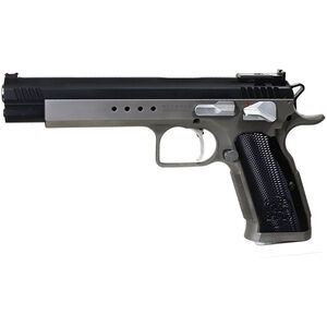 "EAA Tanfoglio Witness Match Xtreme .40 S&W Semi Auto Pistol 6"" Barrel 14 Rounds Duo-Tone Silver/Black Ceramic Coating"