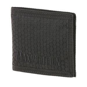 Maxpedition BFW Bi-Fold Wallet Triple Nylon Fabric Construction Anti-Counterfeit Logo Embossed Liner Teflon Coated Matte Black