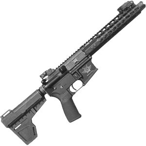 "CFA Warrior-15 AR-15 Semi Auto Pistol 5.56 NATO 7.5"" Barrel 30 Rounds Free Float Key-Mod KAK Blade Brace Black"