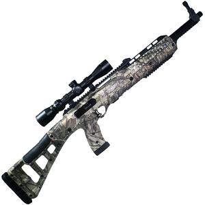 "Hi-Point Hunter Carbine Semi Auto Rifle .45 ACP 17.5"" Barrel 9 Rounds with 1.5-5x32mm Scope Woodland Camo Polymer Stock Black Finish"