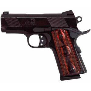 "Iver Johnson 1911 Thrasher Semi Auto Handgun 9mm Luger 3.12"" Barrel 7 Rounds Checkered Wood Grips Polished Blued Finish GIJ23"