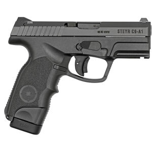"Steyr C-A1 9mm Semi Auto Handgun 3.6"" Barrel 17 Rounds Polymer Frame Black"