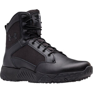 Under Armour Stellar Men's Tactical Boot Size 14 Leather/Nylon Black 1268951