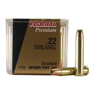 Federal V-Shok .22 WMR Ammunition 50 Rounds 30 Grain Speer TNT Hollowpoint 2,200 Feet Per Second