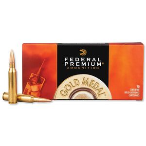 Federal Gold Medal Match .338 Lapua 250gr SMK BTHP 20rds