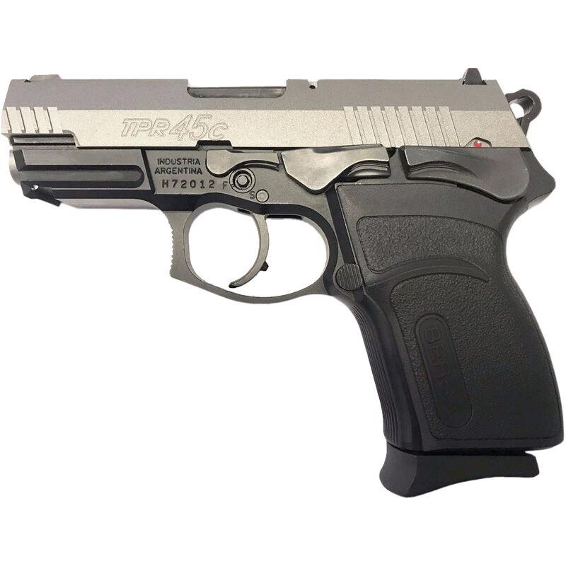 "Bersa TPR45C Semi Auto Pistol .45 ACP 3.6"" Barrel 7 Round Alloy Frame Polymer Grips Two Tone Matte Stainless/Black"