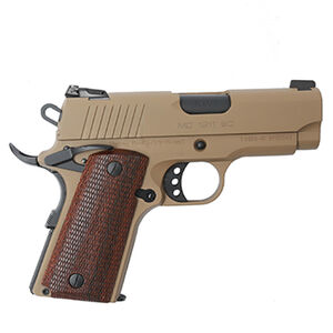 "EAA GiRSAN MC1911SC Officer Model .45 ACP Semi Auto Pistol 3.4"" Barrel 6 Rounds Adjustable Rear Sight Ambidextrous Safety Flat Dark Earth Finish"