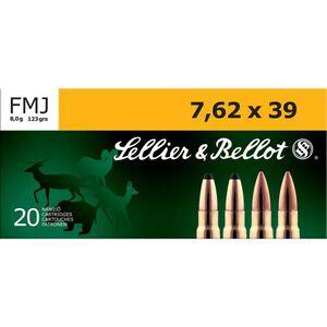 Sellier & Bellot 7.62x39mm Ammunition 123 Grain FMJ 2421 fps