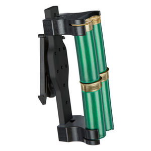 Safariland Model 86 Double 4 Shell Holder 12 Gauge ELS 34 Fork Only Aluminum/Polymer Black
