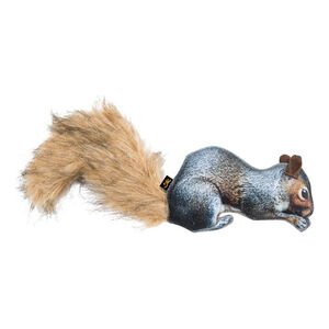 """Browning Squirrel Dog Chew Toy with Squeaker Washable 4.38""""x12"""""""