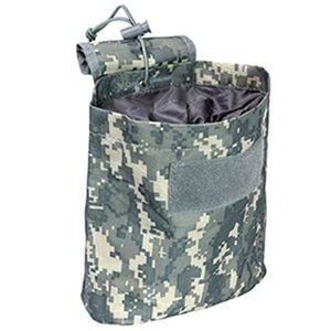 "VISM Folding Dump Pouch 7.5""x8.5""x3.5"" Heavy Duty PVC Fabric Digital Camo CVFDP2935D"