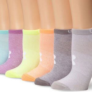 Under Armour Women's Big Logo No Show Sock Marl/Assorted Color 6 Pack