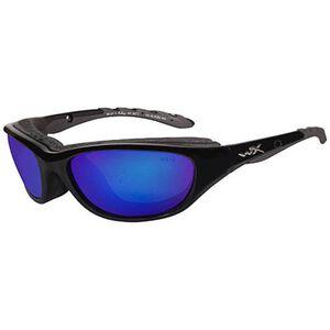 Wiley X Eyewear Air rage Safety Glasses Mirror Lenses Blue 698