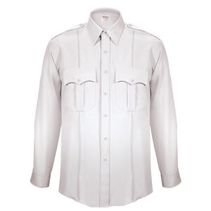 """Elbeco Textrop2 Men's Long Sleeve Shirt Neck 18.5 Sleeve 37"""" 100% Polyester Tropical Weave White"""