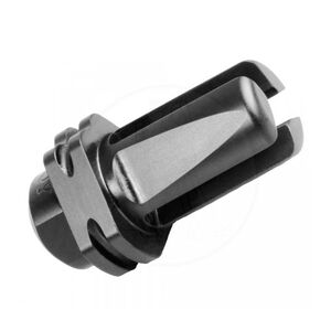 Troy Industries 3 Prong Flash Hider 5.56mm Caliber With Suppressor Mount Capability Threaded 1/2x28 Mount Steel Matte Black Finish