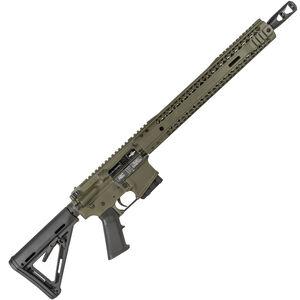 "Black Rain BRO Carnivore AR-15 .450 Bushmaster Semi Auto Rifle 16"" Barrel 10 Rounds SLM M-LOK Handguard MOE Stock OD Green"