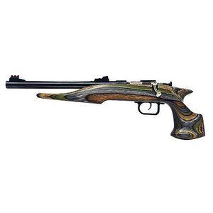 "Chipmunk Bolt Action Rimfire Handgun .22 LR 10.5"" Barrel 1 Round Laminate Camo Wood Blue Barrel"