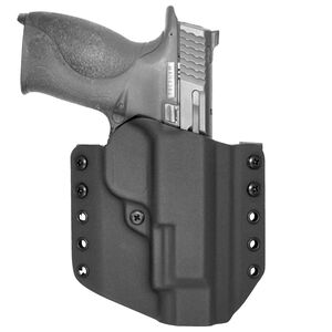 """Comp-Tac Warrior Holster Walther PPQ/M2 4"""" Barrel OWB Belt Slide Right Hand 1.5"""" Belt Loops Kydex Black"""