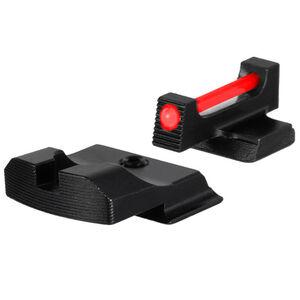 TruGlo Brite-Site Fiber Optic Pro Sight Set for Smith & Wesson M&P Models 1 Dot Sights CNC Machined Steel Housing Matte Black Finish