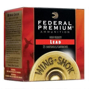 "Federal 12 Gauge Ammunition 250 Rounds 2.75"" #7.5 Lead 1.125 oz."