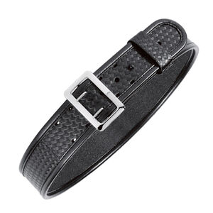 "Bianchi Sam Browne Duty Belt 2.25"" Width Size 32 Brass Buckle Leather Plain Black"