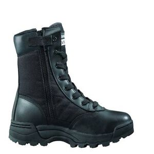 "Original S.W.A.T. Classic 9"" Side Zip Men's Boot Size 15 Regular Non-Marking Sole Leather/Nylon Black 115201-15"