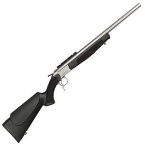 """CVA Scout Single Shot Break Action Rifle .44 Magnum 22"""" Fluted Stainless Steel Barrel DuraSight Scope Rail Mount CrushZone Recoil Pad Synthetic Forend/Stock Matte Stainless Finish"""