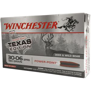 Winchester Super X .30-06 Springfield Ammunition 20 Rounds Texas Edition Power Point 180 Grains