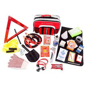 Wise Company Car Vehicle Emergency Food/Water/Survival Kit with Jumper Cables and Storage Case