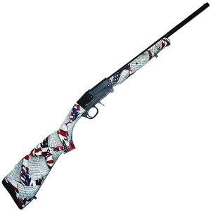 "Midland Backpack US Constitution 12 Gauge Single Shot Break Action Shotgun 18.5"" Barrel 3"" Chamber 1 Round Foldable Design Constitution Camo Synthetic Stock Black Finish"