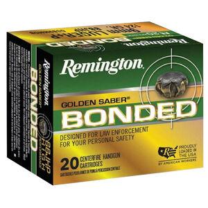 Remington Golden Saber Bonded 9mm Luger Ammunition 147 Grain Bonded Brass Jacketed Hollow Point 990 fps