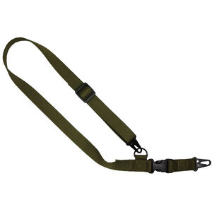 """US Tactical C1: 2-to-1 Point Tactical Sling Ambidextrous 1.25"""" Wide OD Green"""