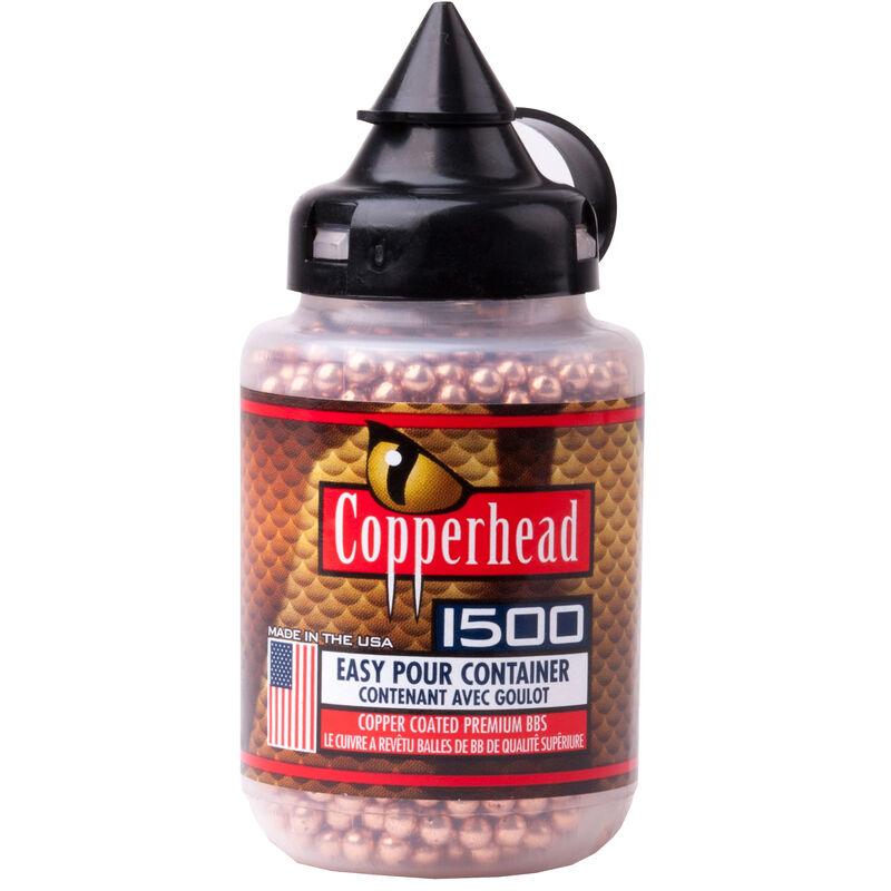 Crosman Copperhead BBs .177 Caliber Stainless Steel Copper Coated, 5.23 Grain, 1500 Round Bottle 0737