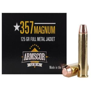 Armscor USA .357 Magnum Ammunition 50 Rounds FMJ 125 Grains F AC 357-2N