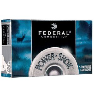 "Federal Power-Shok 16 ga 2-3/4"" #1 Buck 12 Pellets 5 Rnd Box"