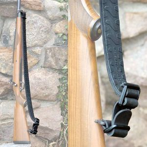 Slogan Outdoors Long Magnum Rifle Sling With Swivels Heavy Weight Rubber Black 023483