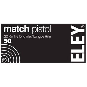 Eley Pistol Match .22 LR 40 Grain RN 50 Round Box