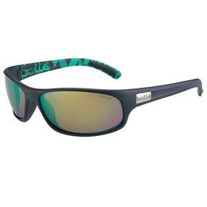 Bolle Anaconda Sunglasses Blue/Green Frames Brown Emerald Lenses 12081
