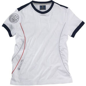 Beretta Special Purchase Women's Uniform Pro T Shirt Short Sleeve Large Cotton White and Navy Blue