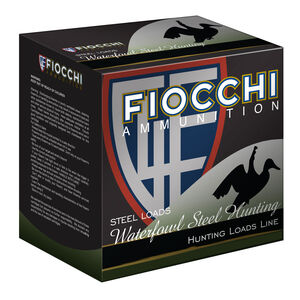 "Fiocchi Shooting Dynamics Waterfowl Steel Hunting 12 Gauge Ammunition 3"" #4 1-1/8oz Steel Shot 1500 fps"