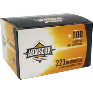 Armscor .223 Remington Ammunition 100 Rounds 55 Grain Full Metal Jacket 3050fps