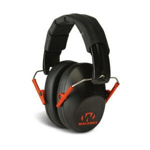 Walker's Game Ear Pro Low Profile Folding Ear Muffs NRR 22 dB   Black with Orange